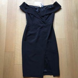 Black Dress- Bardot Size Small